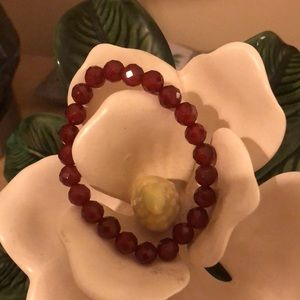 Faceted red tigers eye. Unique and very rare.